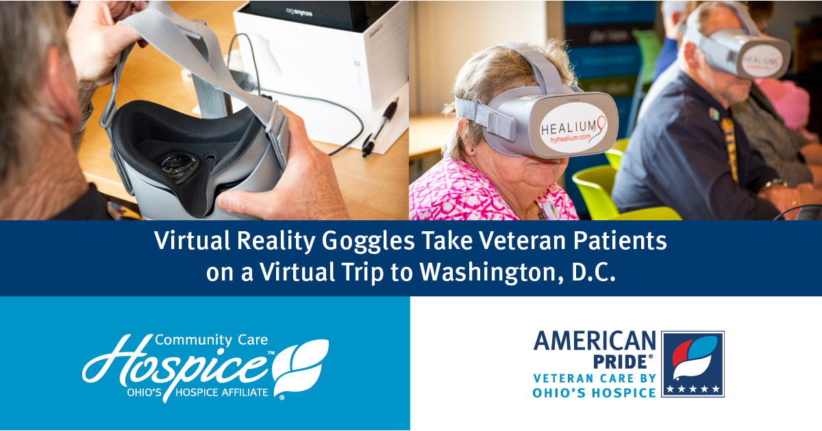 Virtual Reality Goggles Take Veteran Patients On A Virtual Trip To The National Mall In Washington, D.C.