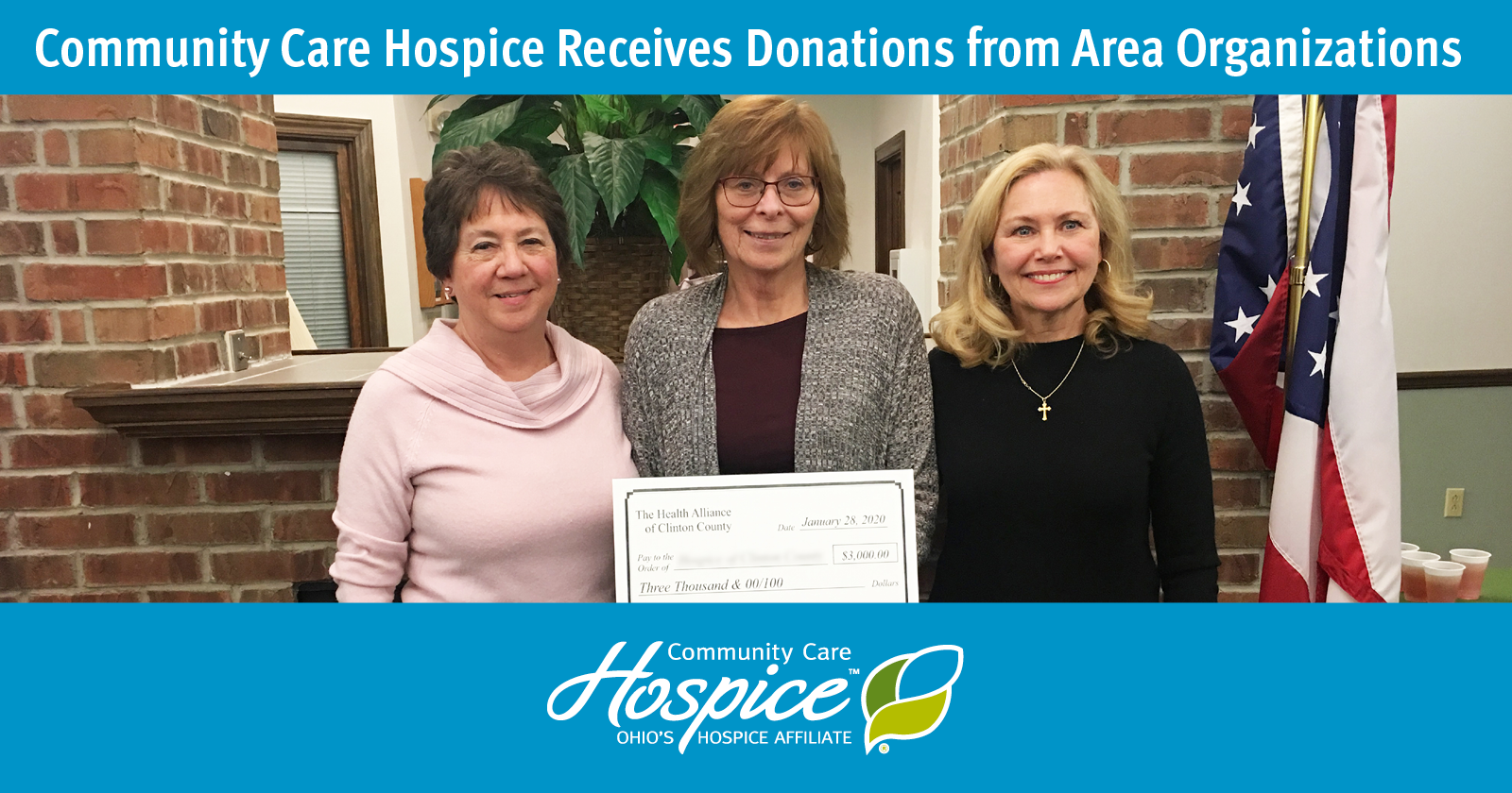 Community Care Hospice Receives Donations From Area Organizations