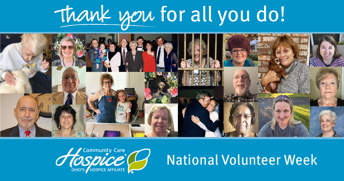 Thank You For All You Do! National Volunteer Week - Community Care Hospice