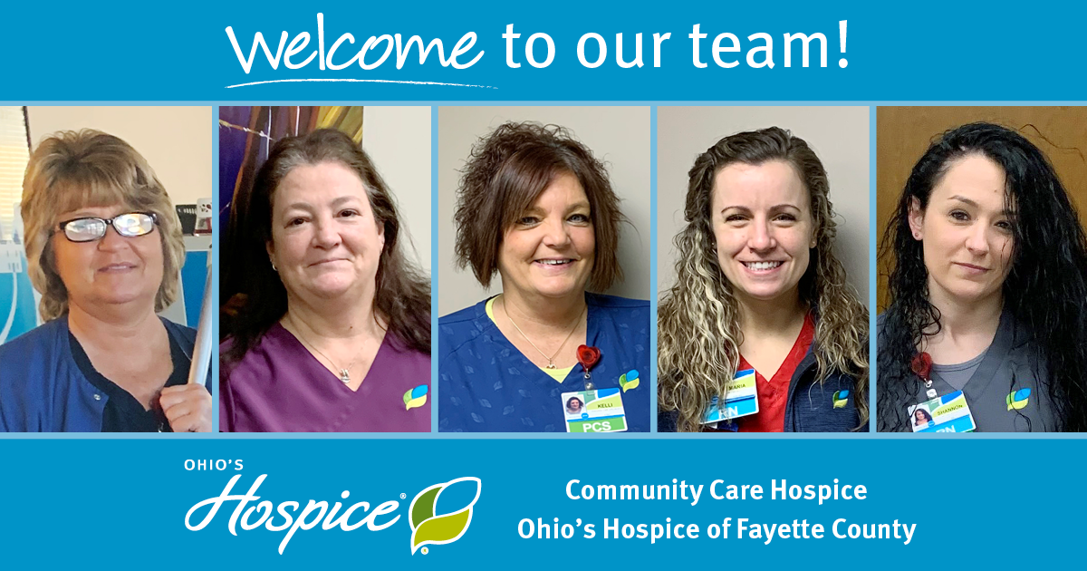 Welcome To Our Team! - Community Care Hospice