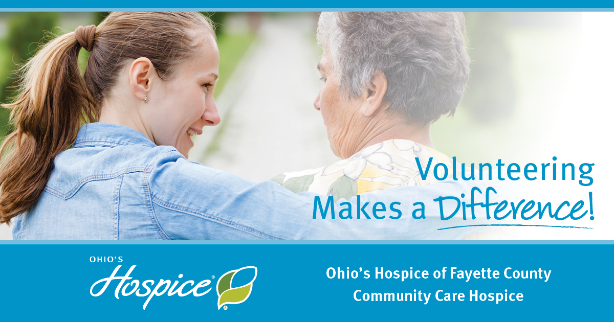 Volunteering Makes A Difference! - Community Care Hospice